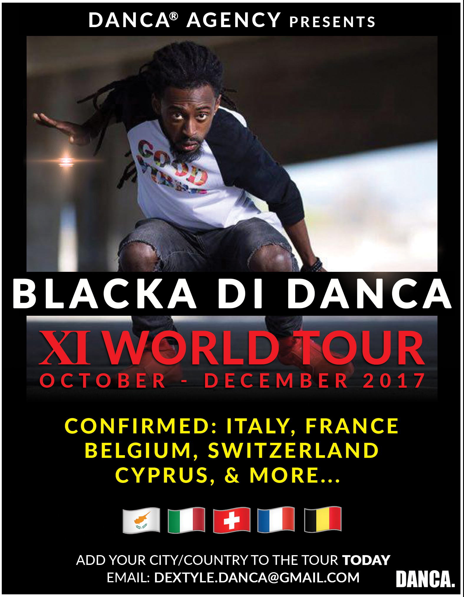 Blacka Di Danca XI World Tour BUSS A DANCE